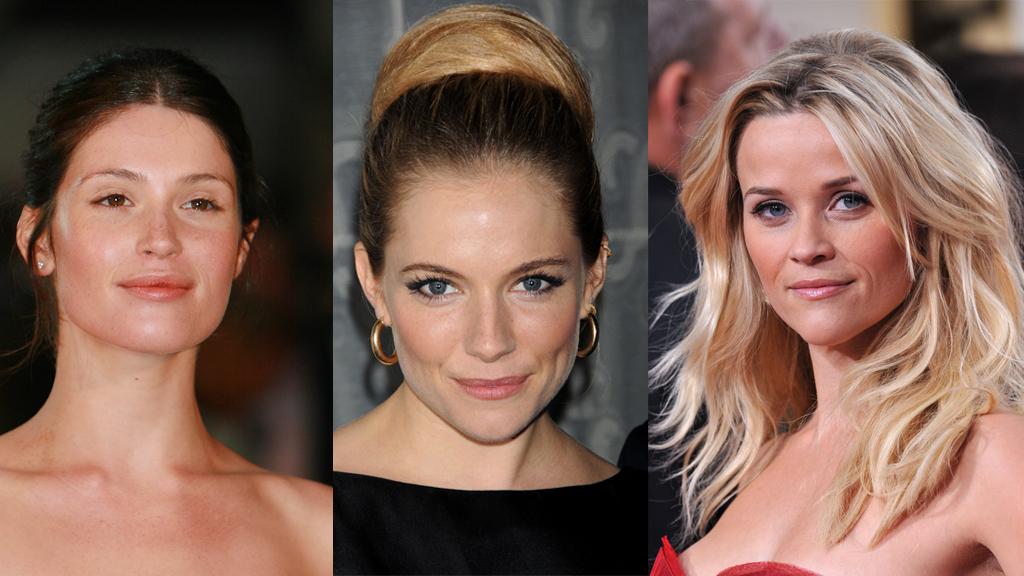 NATURLIG SMINKE: Ja, de får sikkert eksperthjelp, men resultatet er i alle fall en naturlig og frisk makeup, for Gemma Arterton, Sienna Miller og Reese Witherspoon.