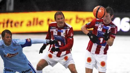 Thomas Drage var nær scoring like før pause i Tromsøs serieåpning mot Fredrikstad. (Foto: Bertinussen, Rune Stoltz/Scanpix)
