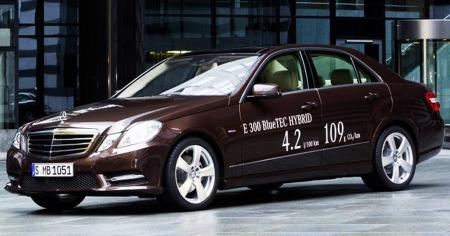 Mercedes E300 Bluetec Hybrid.