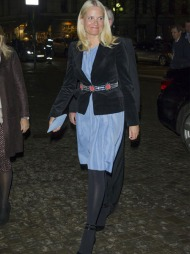 FAVORITT: Den lyseblå kjolen brukte Mette-Marit sist under åpningen   av den internasjonale kirkemusikkfestivalen.