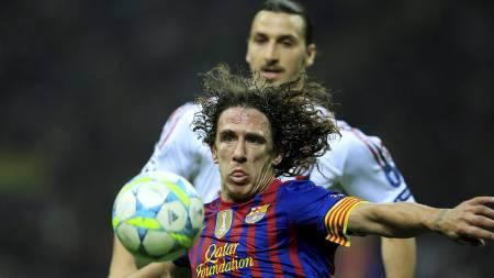 FRYKTER ZLATAN:  Carles Puyol frykter Zlatan i returkampen. (Foto: STEFANO RELLANDINI/Reuters)