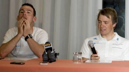 Mark Cavendish og Edvald Boasson Hagen på Team Sky. (Foto: Pete Goding/Pa Photos)