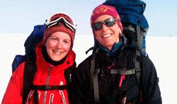SKI: Elisabeth Røssum Iversen går turen over Finnmarksvidda for første gang denne påsken. (Foto: Svein Lian)