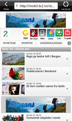 VÆRNYTT: Få de siste nyhetene fra stom.no i hendig mobilformat.   (Foto: StormGeo)
