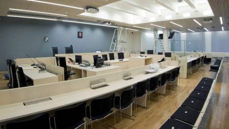 RETTSSAL: Rettslokalene som skal brukes i rettssaken er snart klar. (Foto: Berit Roald/Scanpix )