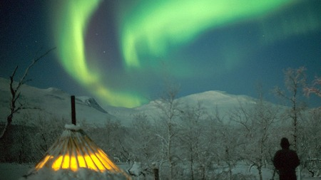 Nordlys fra vakre Troms.