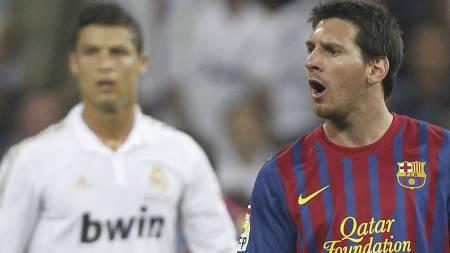 Ronaldo og Messi (Foto: Andres Kudacki/Ap)