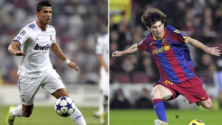 Ronaldo og Messi (Foto: PIERRE-PHILIPPE MARCOU-JOSEP LAG/Afp)