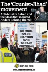 RAPPORTEN: I denne rapporten fra organisasjonen «Hope not hate»   omtales de mest innflytelsesrike personene i den anti-islamistiske bevegelsen.   (Foto: «Hope not hate»)