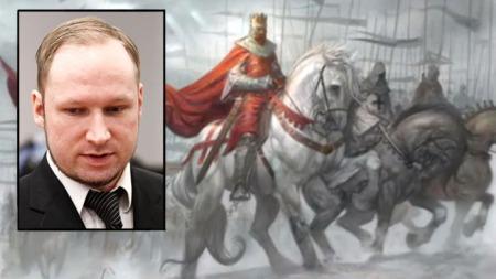 Anders Behring Breivik (innfelt) hylles på nett timer etter han ble kjent tilregnelig i Oslo tingrett.  (Foto: Scanpix)