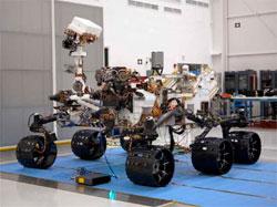Kjøretøyet Curiosity skal etter planen lande på Mars 6. august 2012.