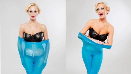 Ingrid vil vise at det går an å være sexy selv om man har pose på magen. (Foto: John Andre AAsen/PHOKUS)