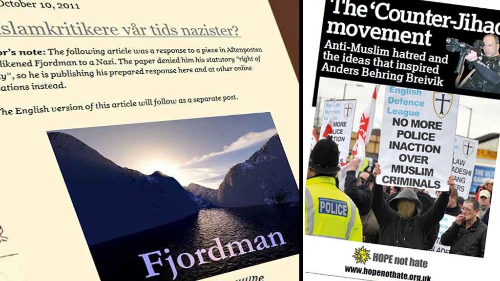 FJORDMAN: Organisasjonen «Hope not hate» mener Fjordman er en av de viktigste aktørene i det anti-islamistiske nettverket. Fjordman svarer på beskyldningene i en e-post til TV 2.  (Foto: Faksimile)