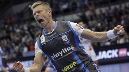 LYNVING: Islandske Gudjon Valur Sigurdsson forlater AG København for Kiel etter sesongen. (Foto: POULSEN LARS/Ap)