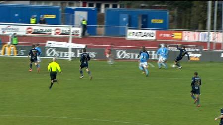 Fredrik Brustads første Tippeliga-scoring sørget for 1-2. (Foto: TV 2.)