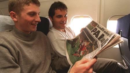 Tore Andre Flo (th) og Frank Strandli (Foto: RUNE PETTER NESS/NTB scanpix)