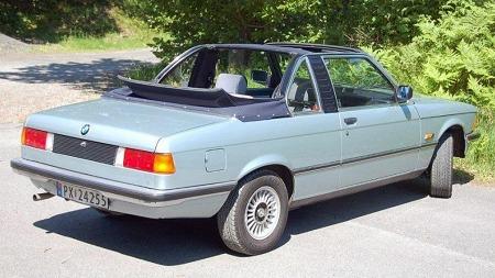 Ifølge offisiell Baur-statistikk ble ingen slike biler levert nye i Norge, men et fåtall har likevel dukket opp med årene. Denne 316-utgaven fra 1982 er nå til salgs i Grimstad. Faksimile: Finn.no