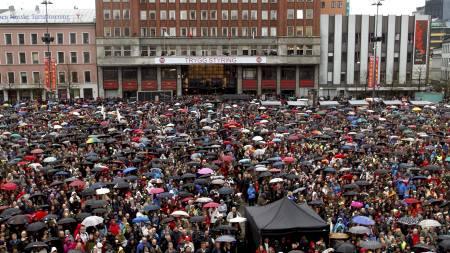 Ca 40.000 hadde møtt fram for å delta i avsyngingen av