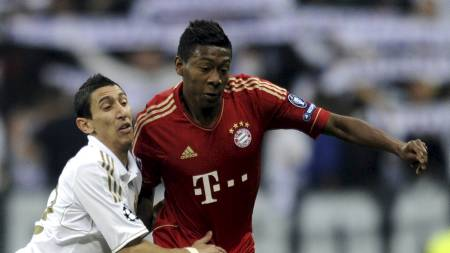MAKS UFLAKS: David Alaba går glipp av finalen i München. Det synes Henning Berg er helt feil. (Foto: PIERRE-PHILIPPE MARCOU/Afp)