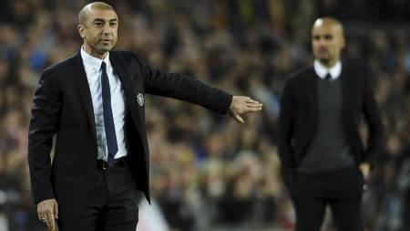 SLÅTT: Roberto Di Matteo ledet Chelsea til finalen på bekostning av Pep Guardiola og Barcelona. (Foto: MANU FERNANDEZ/Ap)