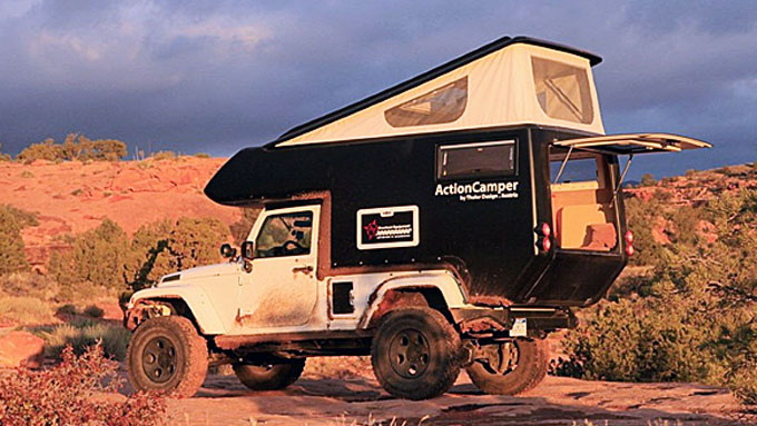 Med Jeep Actioncamper kan du legge ferieturen utenfor allfarvei.