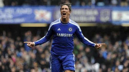 Fernando Torres jubler for scoring mot QPR. (Foto: Anthony Devlin/Pa Photos)