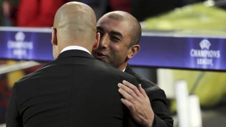 Roberto Di Matteo og Josep Guardiola (Foto: Felice Calabro'/Ap)