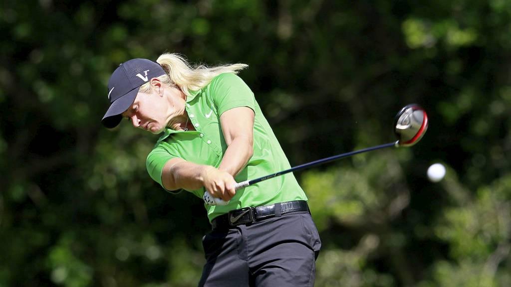 KLATRET PÅ LISTEN: Suzann Pettersen avsluttet brukbart på sisterunden av LPGA-turneringen i Alabama. (Foto: Kevin C. Cox/Afp)