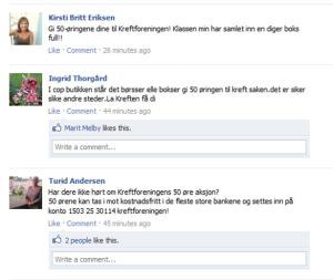 facebook kreftsaken 50-øringer (Foto: facebook.com)