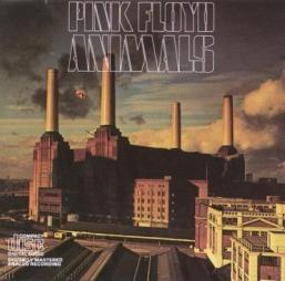 Albumcoveret til Pink Floyds Animals. Bildet viser Battersea Power Station.
