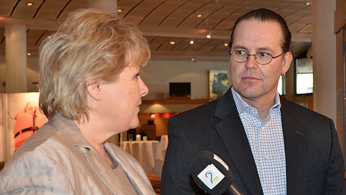 Erna Solberg og Anders Borg (Foto: Kjetil Løset)