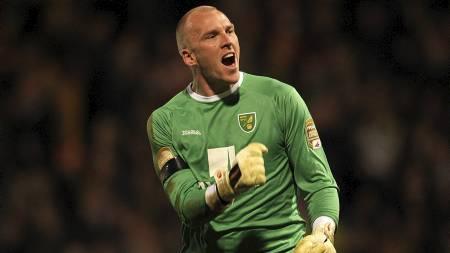 ØNSKET AV CHELSEA: Chelsea fikk nei til sitt bud på Norwich-keeper   John Ruddy. (Foto: Stephen Pond/Pa Photos)