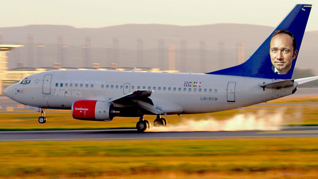 SAS fly med Giske på halen (Foto: Scanpix/NHD montasje: TV 2)