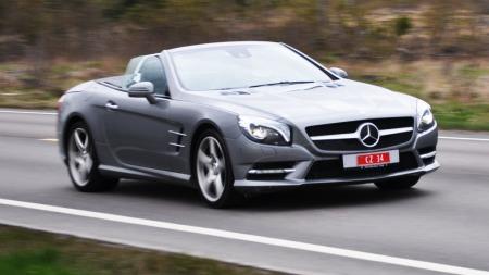 Mercedes-Benz SL: Denne roadsteren kommer vi tilbake til i en senere artikkel.