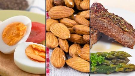 Egg, nøtter og kjøtt er alle proteinrike matsorter som vi anbefales å spise mye av. Men nå viser det seg at det kanskje ikke er så sunt å spise veldig mye av dette...  (Foto: Illustrasjonsfoto)