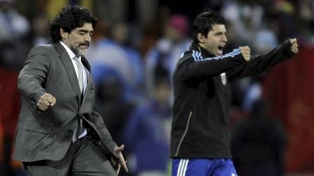 SVIGERFAR: Sergio Agüero er svigersønnen til ingen ringere enn Diego Maradona. (Foto: Matt Dunham/Ap)