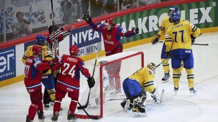 Sverige-Russland (Foto: JONATHAN NACKSTRAND/Afp)