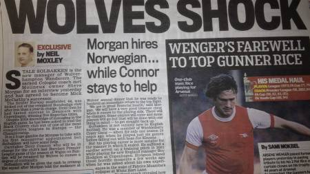 Faksmilie: The Daily Mail. (Foto: The Daily Mail/faksmilie/)