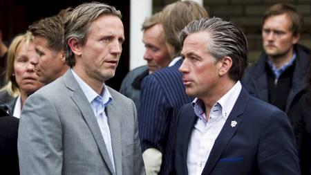 Stabæk-trener Petter Belsvik sammen med daglig leder i Stabæk fotball, Hallgeir Åndal. (Foto: Grøtt, Vegard/NTB scanpix)