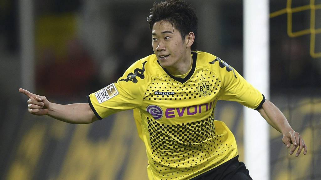 MØTTE FERGUSON: Dortmunds Shinji Kagawa. (Foto: Martin Meissner/Ap)