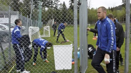 Moldes keeper Espen Bugge Pettersen under lagets treningsøkt fredag (Foto: Per Tormod Nilsen/NTB scanpix)