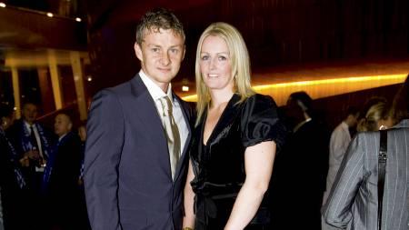 Ole Gunnar Solskjær og kona Silje før utdelingen av Gullballen 2009 i Den Norske Opera fredag kveld. (Foto: Junge, Heiko/NTB scanpix)