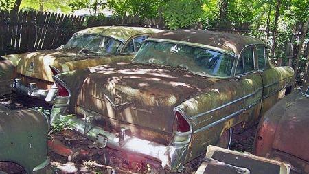 Det er mye å velge i av Packard-utgaver fra de siste selvstendige   årene, 1955 og 1956. Her den simpleste Packard-utgaven
