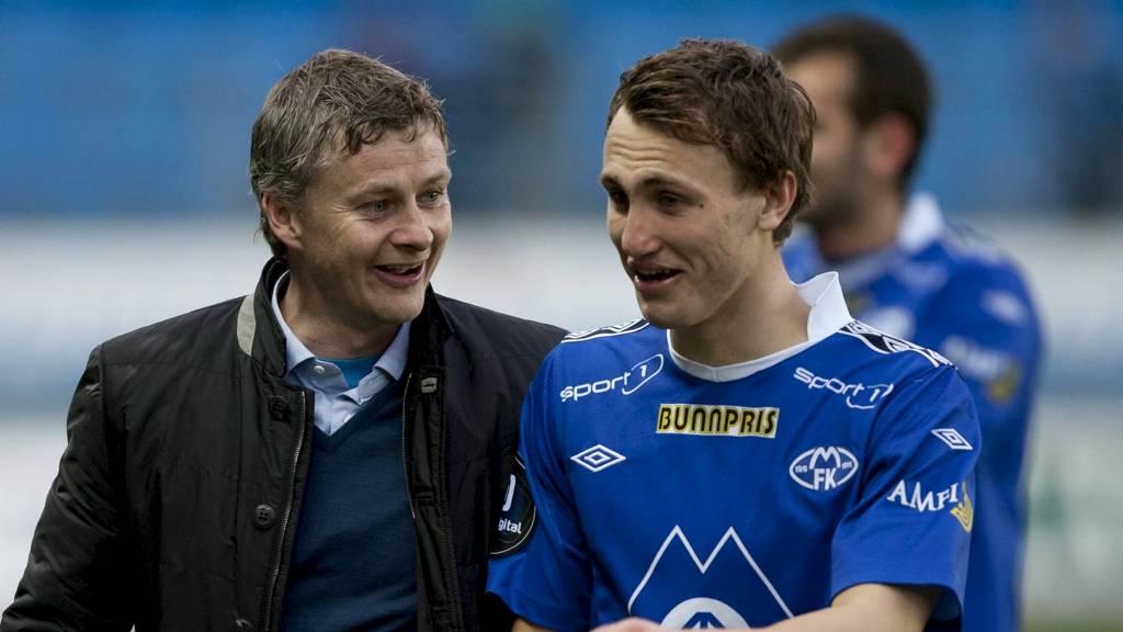 Magnus Wolff Eikrem og Ole Gunnar Solskjær. (Foto: Ekornesvåg, Svein Ove/NTB scanpix)