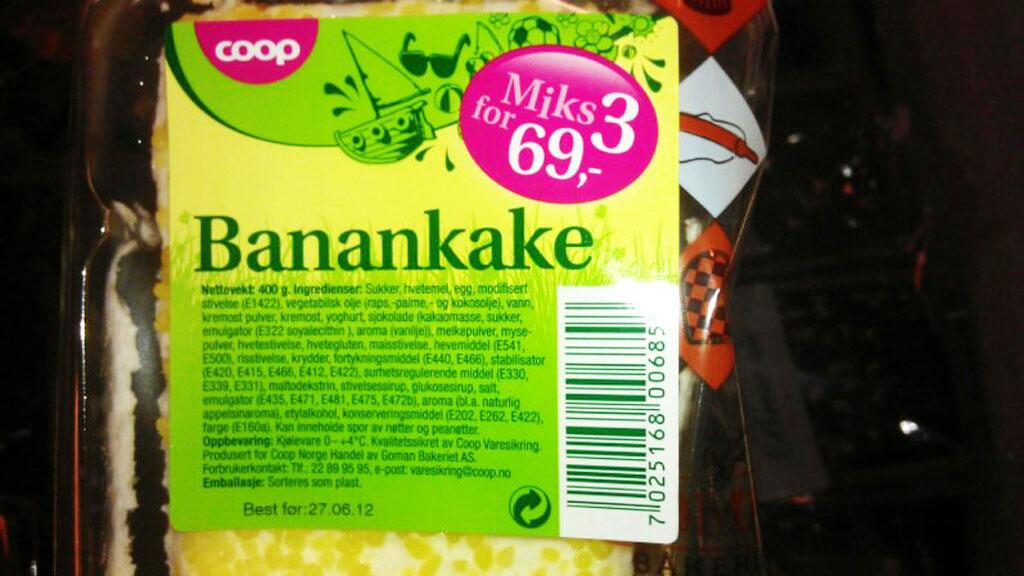 coop-banankake (Foto: Mads Kristian Strand/Leserfoto)