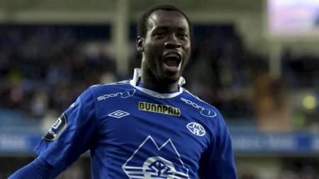 Davy Claude Angan jubler etter scoring for Molde. (Foto: Ekornesvåg, Svein Ove/NTB scanpix)
