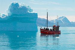 Narsarsuaq er et populært utgangspunkt for isfjell-cruise. (Foto: Creative Commons)