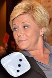 Siv   Jensen (Frp) får terningkast tre. (Foto: Ingvil Teige Stiegler/ TV 2)