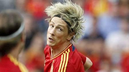 Fernando Torres like etter at han har headet inn 1-0 mot Sør-Korea. (Foto: RUBEN SPRICH/Reuters)