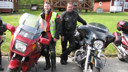 Knut Fenris har alltid drømt om å kjøre motorsykkel til Bluesfestivalen   i Notodden. Da han fikk kreft, tok han seg endelig tid til det. (Foto:   Privat)